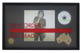 NEW ORDER RIAA GOLD AWARD FOR GET READY