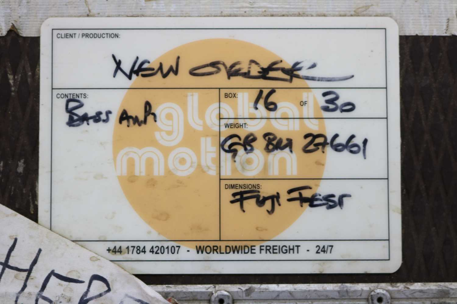 NEW ORDER BASS AMPS FLIGHT CASE - Image 3 of 3