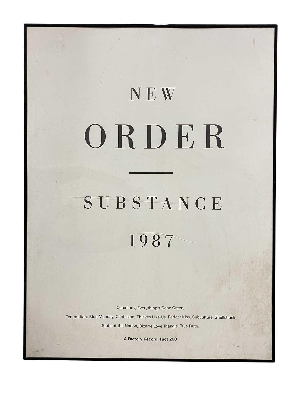 NEW ORDER SUBSTANCE POSTER 1987