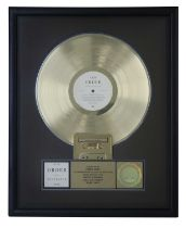 NEW ORDER RIAA GOLD AWARD FOR SUBSTANCE
