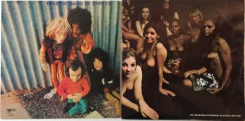 JIMI HENDRIX - ELECTRIC LADYLAND (BLUE TEXT) AND BAND OF GYPSYS - ORIGINAL UK PRESSINGS.