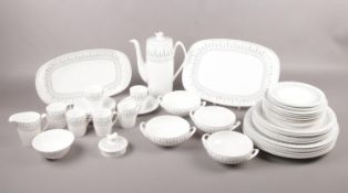 """A collection of """"Spode"""" Fine Bone China in the """"Brussels"""" pattern, comprising of six dinner"""