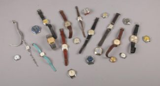 A collection of mostly manual vintage wristwatches to include Timex, Ingersoll, Avia examples.