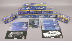 A collection of twelve boxed Atlas Editions diecast vehicles, Best of British Police Cars, 1:43