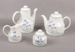 A Royal Doulton 'Minerva' coffee pot, teapot, milk jug, sugar pot.