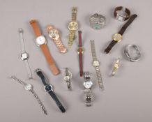 A collection of quartz wristwatches, Pulsar, Sekonda, Lipsy examples