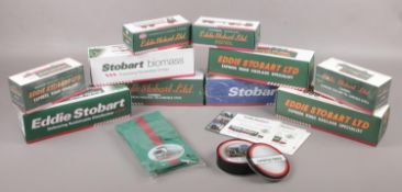 A collection of boxed Atlas Editions Eddie Stobart diecast vehicles, mostly with certificates, along