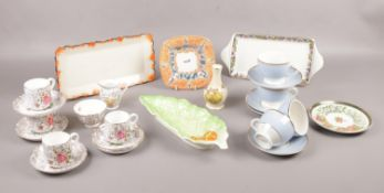 A Box of miscellaneous ceramic's, Sylvac, Royal Winton, Royal Worcester examples
