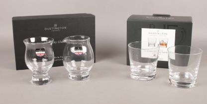 Dartington Crystal. Connoisseur Whisky Glass & Water Jug boxed. To include Two Whisky Rocks