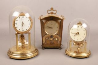 Three anniversary clocks. Two Kundo examples and a Schatz example.
