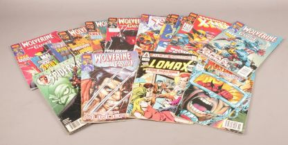 A group of mainly Marvel Collectors Editions comic's. Essential X-Men. Lomax, Peter Parker Spider-