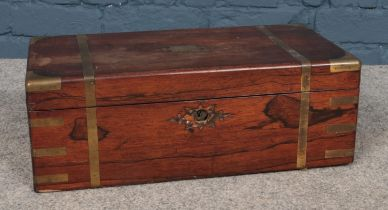 A Victorian rosewood writing slope. (50cm width 25cm length)