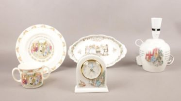 A grouped lot of Royal Doulton & Wedgwood ceramics. Royal Doulton Brambly Hedge Tea service dish,