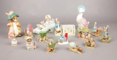 A quantity of Border Fine Arts Beatrix Potter figures. 'The Flopsy Bunnies', 'Peter Rabbit in the