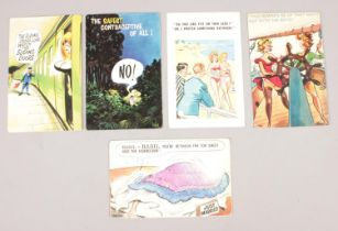 Five original comic seaside postcards - comprising of two designed by Philip W Taylor, one by