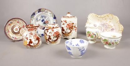 A group of ceramic's. Mason's 'Brown Velvet', Royal Worcester 'Melrose', 'Persiana' stoneware plate,
