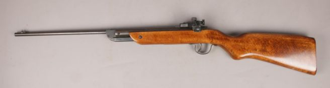 A Milbro G23 break barrel air rifle. CAN NOT POST. Cocks and fires.