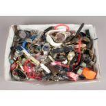 A box of quartz wristwatches.