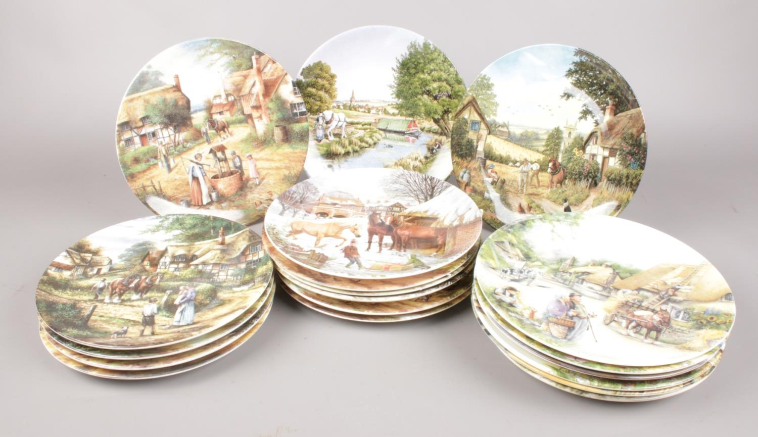 A selection of twenty collectors plates - comprising of thirteen 'Wedgwood' limited edition