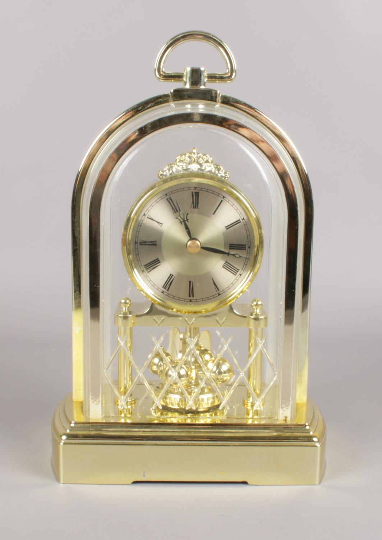 A Dutch Wall clock & Torsion clock. (63cm height wall clock) No weights - Image 2 of 2