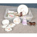 A group of miscellaneous ceramic's. Poole, Beswick, Royal Worcester, Coalport examples etc