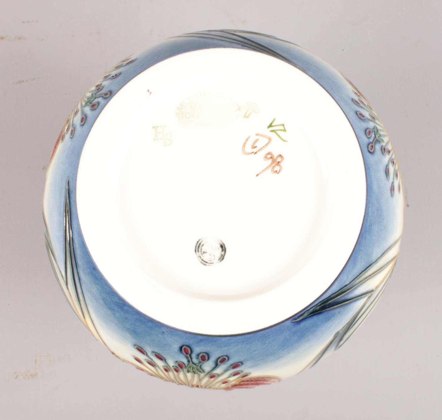 A Moorcroft 'Anna Lily' vase: Designed by Nicola Slaney. H:16cm. (Unboxed) Condition good. No - Image 2 of 2