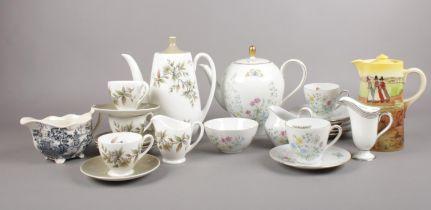 A group of ceramic's. Royal Doulton, Royal Adderley, Johnson Bros examples etc