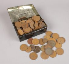 A group of World & British pre decimal coins.