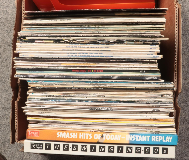 A box of LP records. Also includes retro record holder. - Image 2 of 2