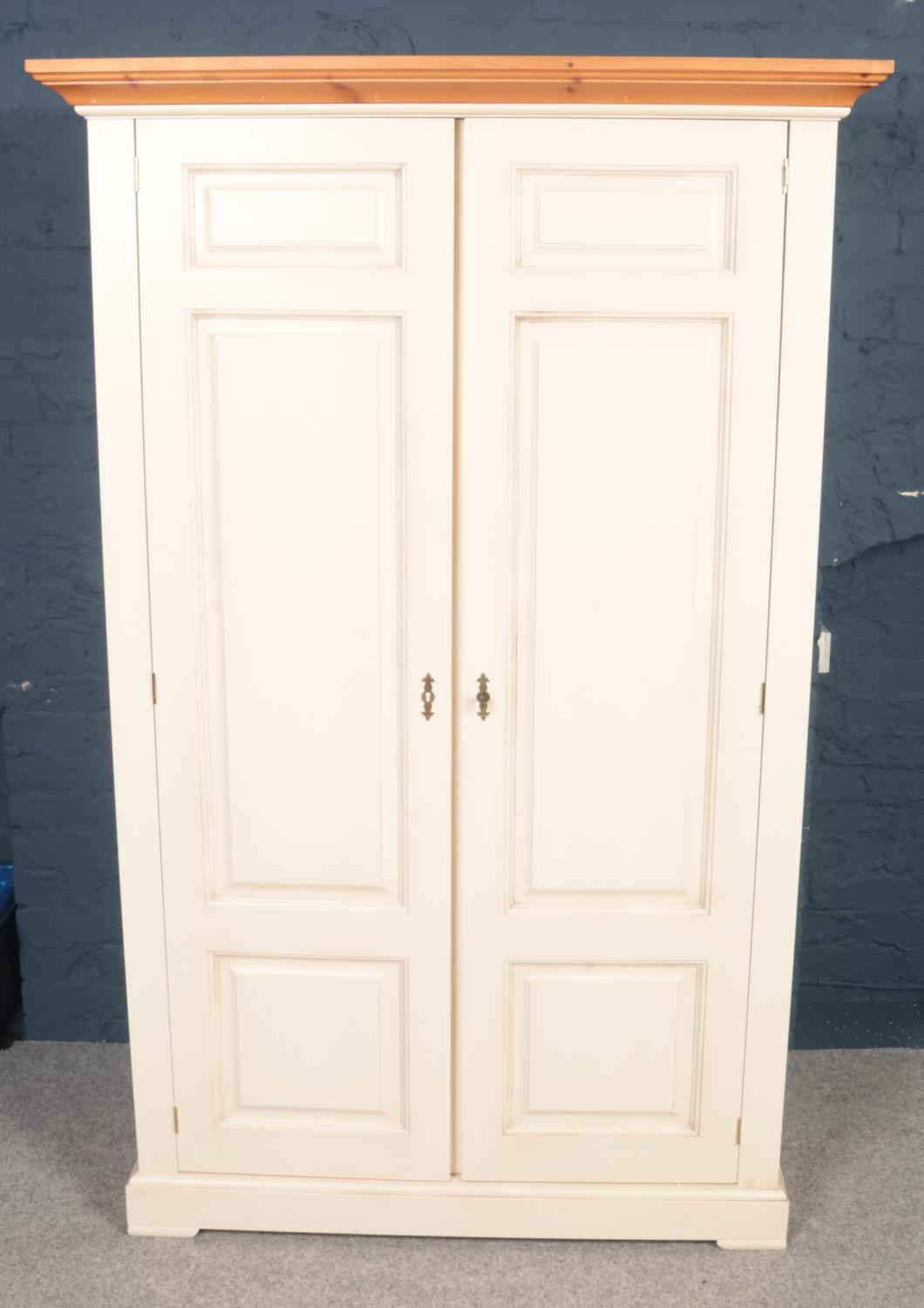 A Barker and Stonehouse modern painted two-door wardrobe . H:198cm,W:112.5cm, D:55cm. Condition
