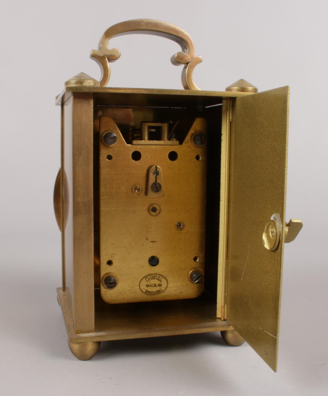 A vintage Bentima brass 8 day lantern clock. (10cm height) - Image 2 of 2