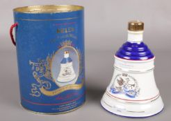 A boxed full and sealed Wade Bell's whiskey decanter, Commemorating the birth of Princess Eugenie.