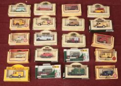 A collection of 20 Lledo die cast vehices. 1934 MAC Canvas Back truck (Green King), 1932 Ford
