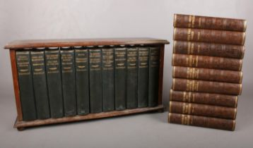 Eleven volumes of H.G.Wells books together with nine volumes of various authors. To include