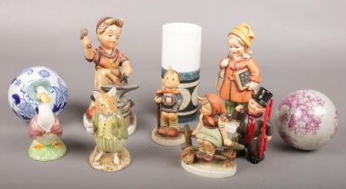 A collection of ceramics. Includes Goebel, Royal Doulton, Troika etc. Troika vase chipped and