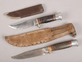 Two hunting knives. Including a William Rodgers example, etc.