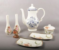 A group of miscellaneous ceramic's. Wedgwood 'Enchanted garden' trinket & pin dishes, Beswick 980