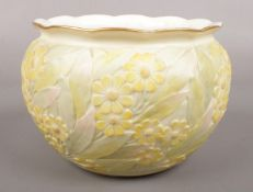 A Royal China Works Worcester Bowl depicting Yellow Daisies. Markings for Grainger and Co. and the