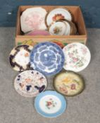 A mixed collection of Ceramic Plates. Contains examples from Wedgewood, Grindley and Davenport.