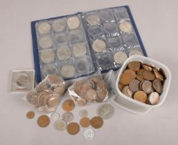 A box of assorted coins. Mainly British pre decimal, includes some restrike examples.