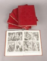 A Complete Set of Six Volumes of 'The War In Pictures', covering WW2. Condition Good. Some age