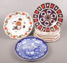 A collection of Named Ceramic Plates. To include Two examples of Royal Crown Derby (Patterns