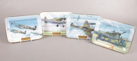 Four limited edition Davenport Commemorative Battle of Britain plates. All signed by the artist