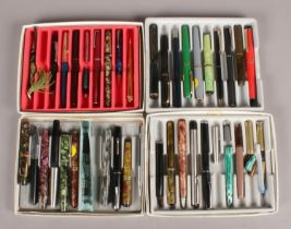 Four Boxes of Fountain Pens, Mechanical Pencils and Spare Parts for Pens. To include examples from
