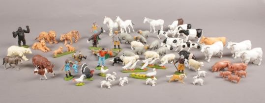 A quantity of Britain's Farm &animal figures. To include various people figures.