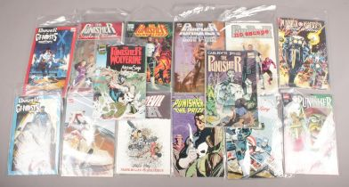 A collection of comics. All Marvel Comics The Punisher.