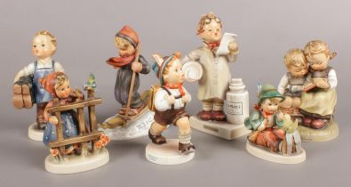 Seven W. Goebel Figures, made in West Germany, all of children. Includes 'Little Pharmacist', '