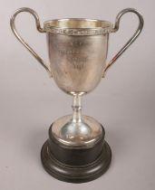 An E.P.N.S Trophy engraved 'S.C.F.C, Young Bird Ave, 1953'.