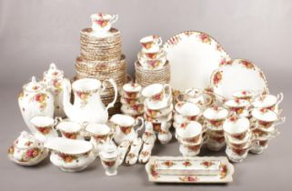 An extensive collection of Royal Albert 'Old Country Roses'. To include approx. 146 pieces. To