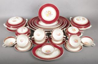 A Substantial Royal Harvey Staffordshire Dinner Service, in Pattern Number 392. To include a